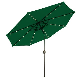 Trademark Innovations Polyester/Steel Colorguard 9' Solar-powered LED Patio Umbrella