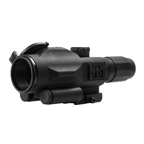 NcStar SRT Black 3-9x40mm P4 Sniper Reticle with Green Laser Scope