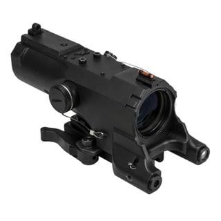 NcStar ECO MOD2 Black Aluminum 4x 34-millimter Green Laser Scope With Navigation LED Light