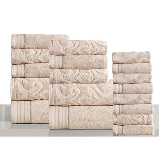 Panache Home Jacquard Collection Luxurious Cotton 18-piece Towel Set