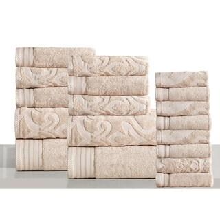 Panache Home Jacquard Collection Luxurious Cotton 18-piece Towel Set
