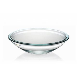 Majestic Gifts Light Blue-lined Glass 13.4-inch Centerpiece Bowl