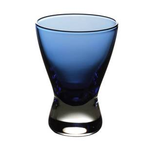 Majestic Gifts Quality Blue Glass Liquor Glasses (Pack of 6) (Option: Blue)