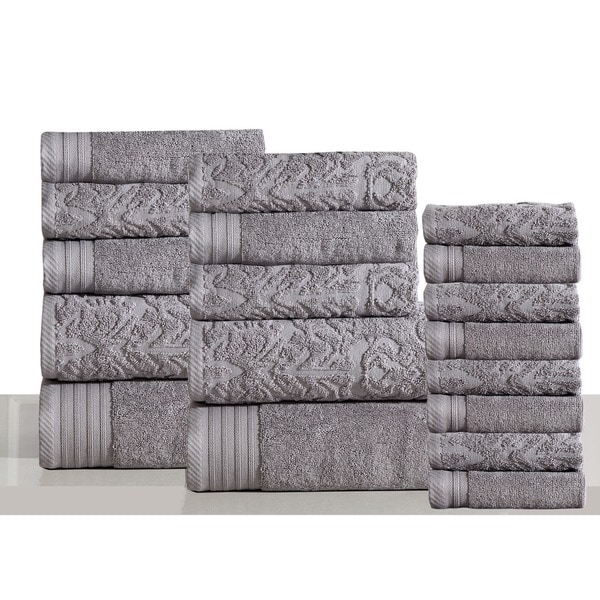 Panache Home Jacquard Collection 100-percent Luxurious Cotton 18-piece Towel Set