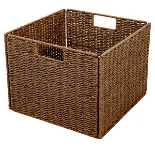 Foldable Storage Basket with Iron Wire Frame
