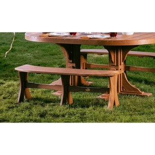 "Outdoor Poly 52"" Table Bench"