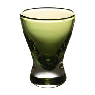 Majestic Gifts Quality Green Glass 2-ounce Liquor Glasses (Pack of 6)