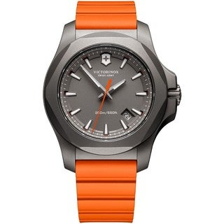 Victorinox Swiss Army Men's 241758 INOX Titanium Orange Rubber Band Watch