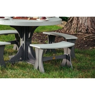 """Outdoor Poly 28"""" Table Bench"""