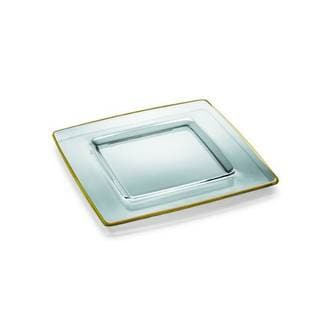 Majestic Gifts Clear Glass Gold-trimmed Charger Plate
