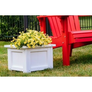 "Poly Furniture Wood 15"" Square Planter"