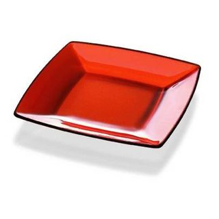Majestic Gifts Quality Orange Glass 5.9-inch x 5.9-inch Plate