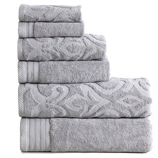 Panache Home Jacquard Collection 100-percent Cotton 6-piece Towel Set