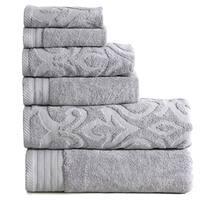 Panache Home Jacquard Collection 100-percent Cotton 6-piece Towel Set