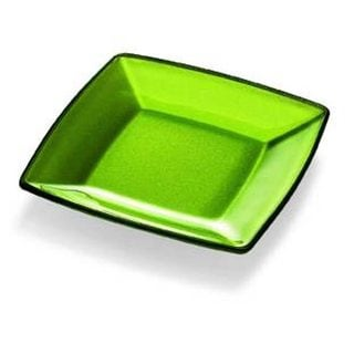 Majestic Gifts Green Glass 9.1-inch x 9.1-inch Plate