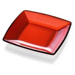 Majestic Gifts Orange Quality Glass 9.1-inch Square Plate