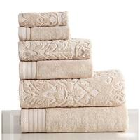 Panache Home Jacquard/Paisley Collection 100-percent Cotton 6-piece Towel set