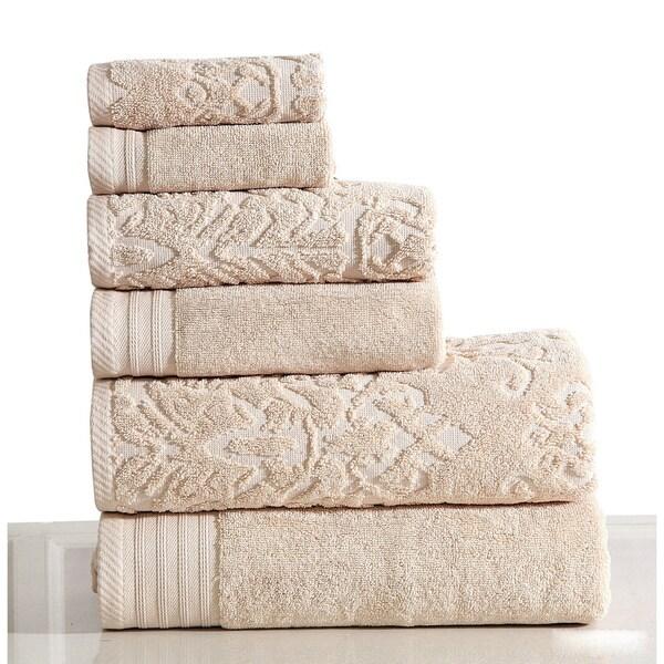 Panache Home Jacquard/Paisley Collection 100-percent Cotton 6-piece Towel set