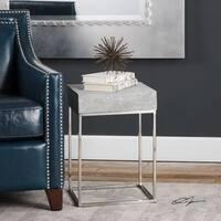 Uttermost Jude Concrete Accent Table - Silver