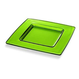 Majestic Gifts Green Glass 13-inch x 13-inch Charger Plate
