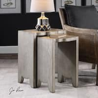 Uttermost Imala Natural Ash Nesting Tables (Set of 2) - Silver