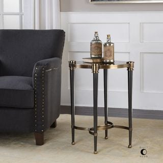Uttermost Thora Brushed Black Accent Table