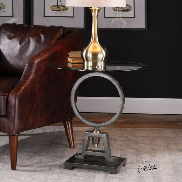 Uttermost Adan Glass Accent Table