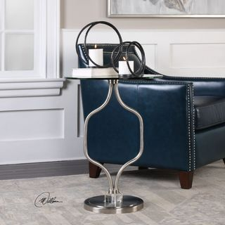 Uttermost Kizma Brushed Nickel Accent Table