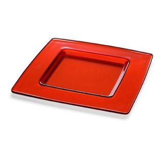 Majestic Gifts Orange Glass 13-inch Charger Plate