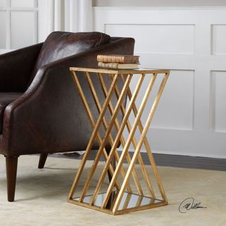 Link to Uttermost Janina Gold Dimensional Accent Table Similar Items in Living Room Furniture