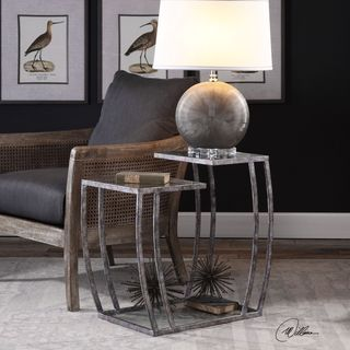 Shop Uttermost Teeranie Burnished Silver Accent Table