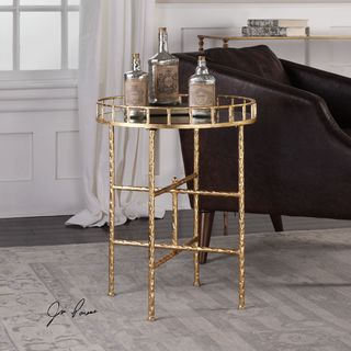 Uttermost Tilly Bright Gold Accent Table