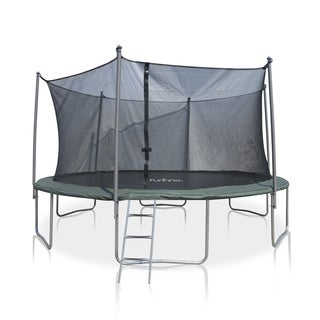 Furinno 15-foot Trampoline with Enclosures and Ladder