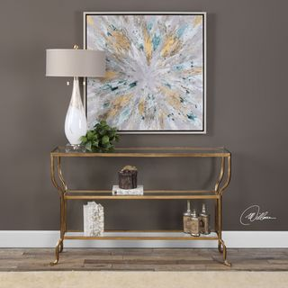 Uttermost Deline Gold Console Table