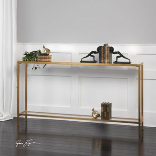 Marvelous Uttermost Hayley Gold Console Table