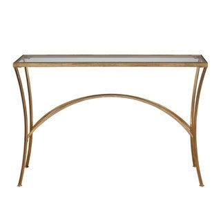 Uttermost Alayna Gold Console Table