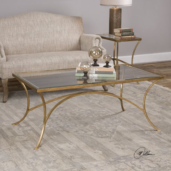 Gold Outdoor Coffee Table: Shop Uttermost Alayna Gold Coffee Table
