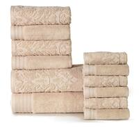 Panache Home Jacquard/Paisley Collection Luxurious Cotton 12-piece Towel Set