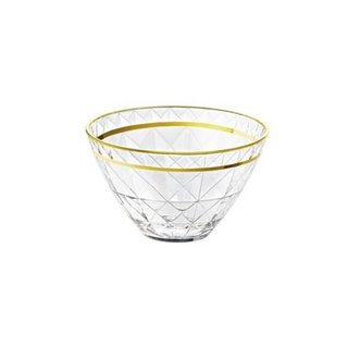 Majestic Gifts Individual Glass Bowl with Gold Rim