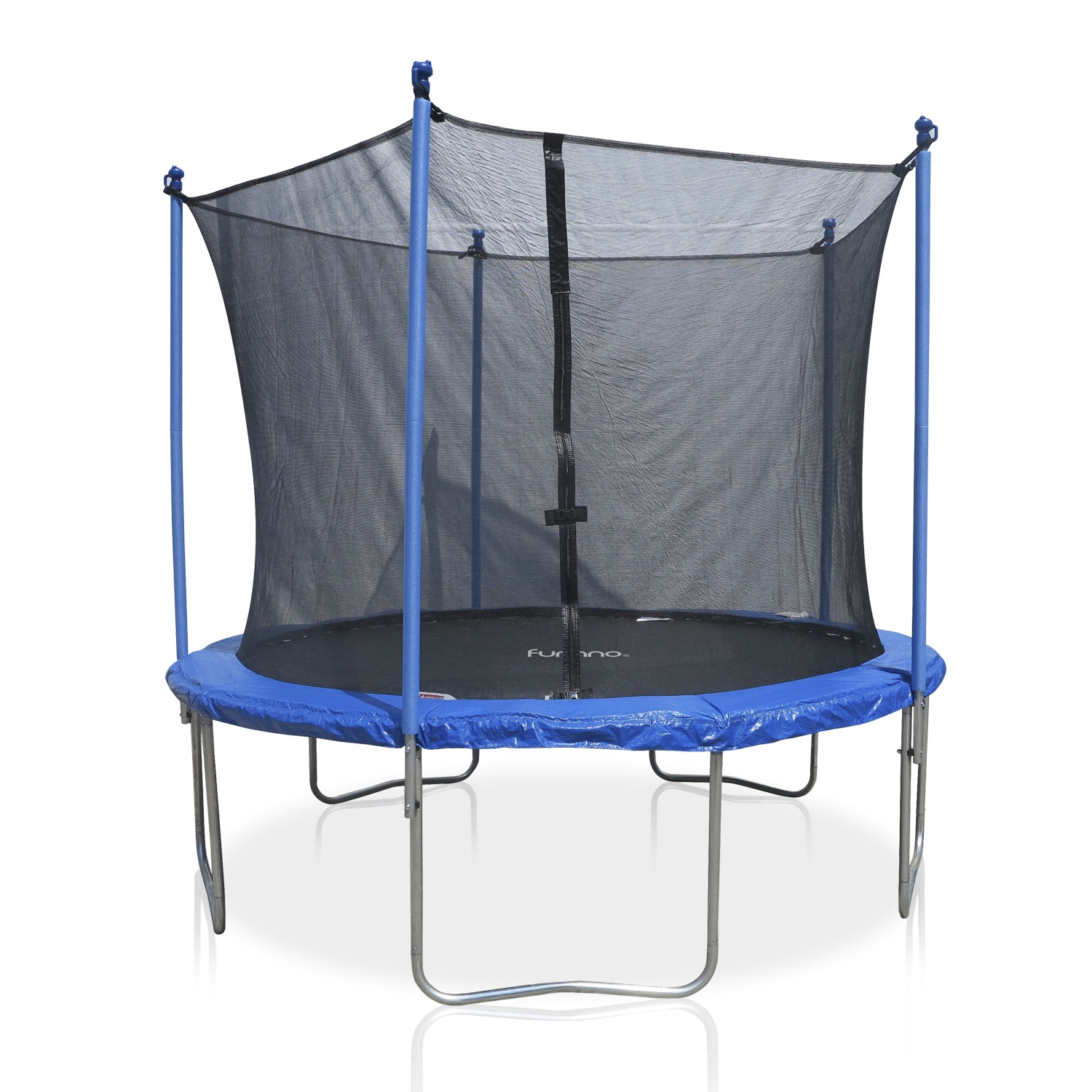 Furinno 10-foot Trampoline with Enclosure (10 Ft.), Silve...