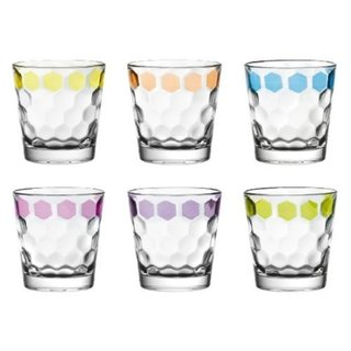 Majestic Gifts Assorted Glass 9.8-ounce Old Fashioned Tumbler Set (Pack of 6)