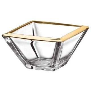 "Majestic Gifts Quality Glass Individual Bowl with Gold Band, 5.5"" x 5.5"""