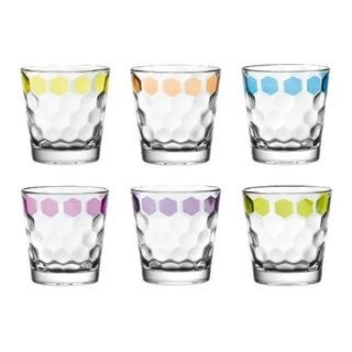 Majestic Gifts Quality Glass Double Old Fashioned Tumbler (Set of 6)