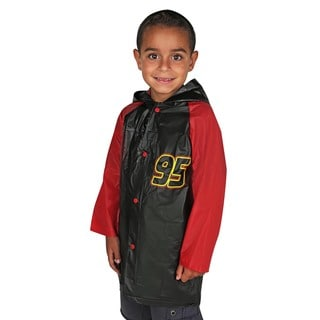 Disney Junior Boys' Cars Lightning McQueen Black Vinyl Rain Slicker