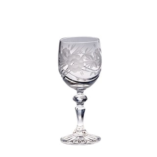 Majestic Gifts Hand-cut Crystal 7-ounce 4-piece White Wine Goblet Set