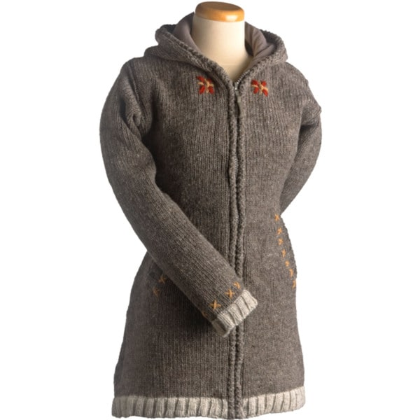 Laundromat Women's Edelweiss Brown Wool Sweater - Free Shipping ...