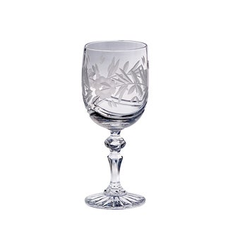 Majestic Gifts Clear Hand-cut Crystal 11-ounce Red Wine Goblets (Pack of 4)