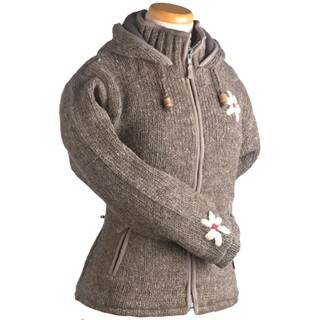 Laundromat Janis Zip Front Grey Wool Sweater