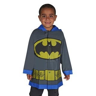 DC Comics Batman Boys' Grey Vinyl Rain Slicker