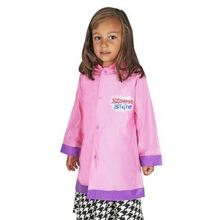 Nickelodeon Toddler Girls' Shimmer Shine Pink Vinyl Rain Slicker